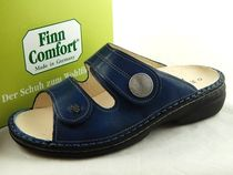 Finn Comfort Round Toe Leather Footbed Sandals Flat Sandals