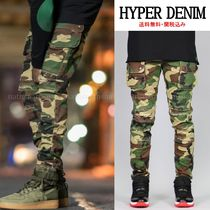 HYPER DENIM Camouflage Street Style Cotton Cargo Pants