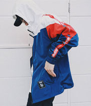 Unisex Street Style Bi-color Track Jackets