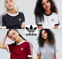 adidas Crew Neck Casual Style Cotton Medium Short Sleeves T-Shirts