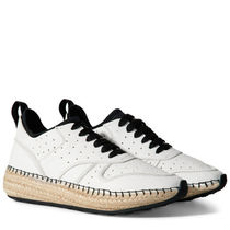TOD'S Plain Toe Rubber Sole Lace-up Casual Style Blended Fabrics