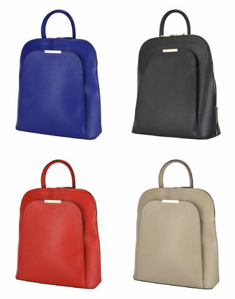 Plain Leather Backpacks