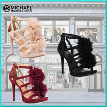 Michael Kors Open Toe Suede Pin Heels Party Style Heeled Sandals