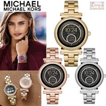 Michael Kors Street Style Metal Round Elegant Style Digital Watches
