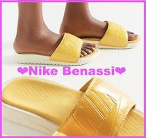 Nike BENASSI Casual Style Street Style Shower Shoes Flat Sandals