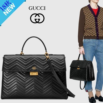 59b35bbb38f3 ... GUCCI Business   Briefcases A4 2WAY Plain Leather Business   Briefcases  ...