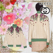 GUCCI Short With Jewels Varsity Jackets