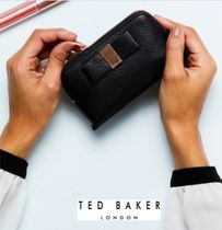 TED BAKER Blended Fabrics Plain Leather Pouches & Cosmetic Bags
