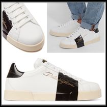 Dolce & Gabbana Plain Leather Sneakers