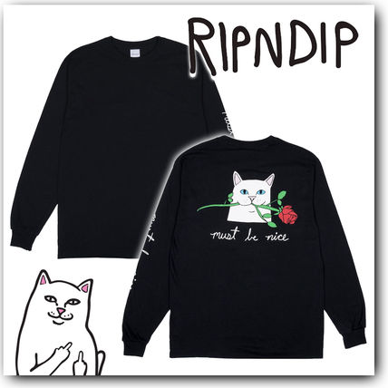 RIPNDIP More T-Shirts Crew Neck Pullovers Long Sleeves Other Animal Patterns