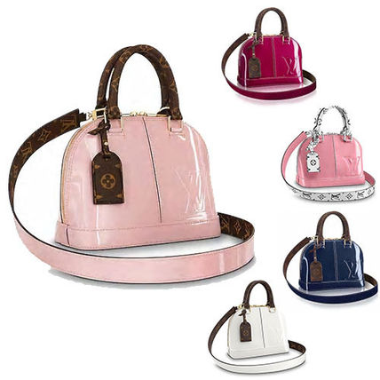 3e0cef75d514a5 ... Louis Vuitton Handbags 18SS ALMA BB Patent Leather Elegant Style  Handbags ...