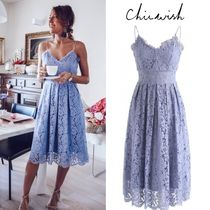 Chicwish Flower Patterns V-Neck Medium Home Party Ideas Lace