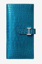 HERMES Bearn Unisex Crocodile Street Style Long Wallets