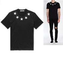 GIVENCHY Crew Neck Star Street Style Plain Cotton Short Sleeves