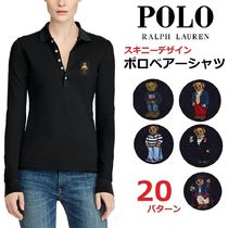 Ralph Lauren Casual Style Long Sleeves Cotton Polo Shirts