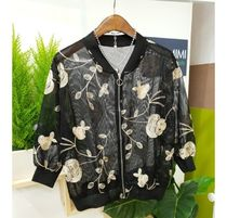 Flower Patterns Tropical Patterns Casual Style Rib