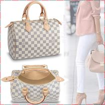 Louis Vuitton SPEEDY Other Plaid Patterns Canvas Blended Fabrics A4 Bi-color