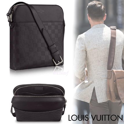 bebbf2b609c5 ... Louis Vuitton Messenger   Shoulder Bags Other Check Patterns Blended  Fabrics Street Style ...
