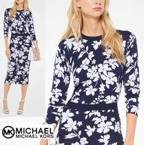 Michael Kors Flower Patterns Long Sleeves T-Shirts