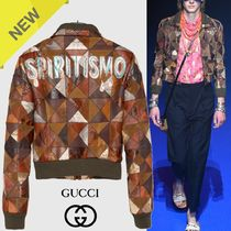GUCCI Short Leather Biker Jackets
