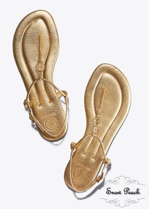 5773b6175 Tory Burch Rubber Sole Plain Leather Sport Sandals Elegant Style by ...