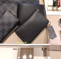 Louis Vuitton TAIGA Blended Fabrics Plain Leather Special Edition Coin Cases