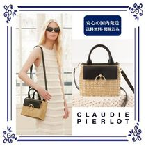 CLAUDIE PIERLOT Casual Style Calfskin 2WAY Plain Straw Bags