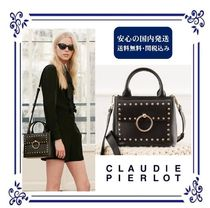 CLAUDIE PIERLOT Casual Style Studded Street Style 2WAY Plain Leather