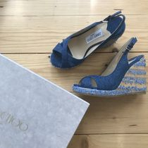 Jimmy Choo Open Toe Platform & Wedge Sandals