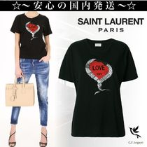 Saint Laurent Casual Style U-Neck Other Animal Patterns Cotton Medium
