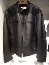 Coach Street Style Plain Leather Biker Jackets