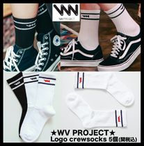 WV PROJECT Unisex Street Style Socks & Tights