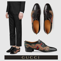 GUCCI Wing Tip Blended Fabrics Other Animal Patterns Leather