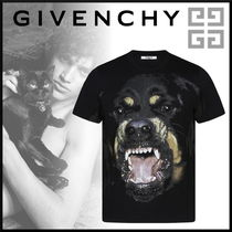 GIVENCHY Crew Neck Pullovers Street Style Short Sleeves Oversized