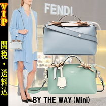 FENDI BY THE WAY Casual Style 2WAY Plain Leather Shoulder Bags