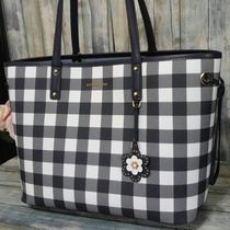 Michael Kors Gingham Casual Style A4 PVC Clothing Totes