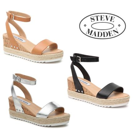 818cd93d68 Steve Madden 2018 SS Leather Platform & Wedge Sandals by BlueBubbles - BUYMA