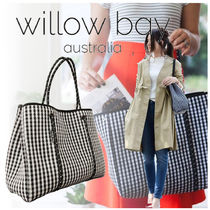 willow bay Gingham Casual Style Bag in Bag A4 Totes