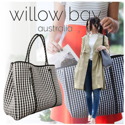 Gingham Casual Style Bag in Bag A4 Totes