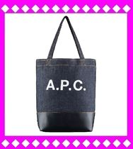 A.P.C. Unisex A4 2WAY Leather Totes