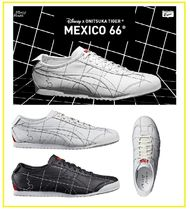 Onitsuka Tiger Plain Toe Unisex Street Style Leather Sneakers