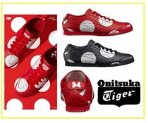 Onitsuka Tiger Dots Plain Toe Unisex Street Style Leather Sneakers
