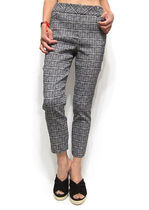 Other Check Patterns Office Style Cropped & Capris Pants