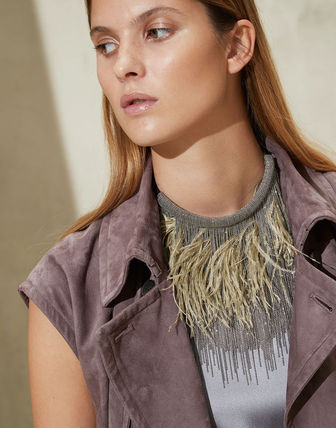 Party Style Fringes With Jewels Necklaces & Pendants