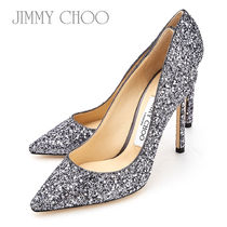 Jimmy Choo Flower Patterns Tropical Patterns Leather Pin Heels