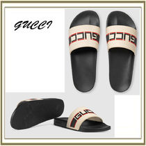 GUCCI Stripes Unisex Street Style Plain Shower Shoes