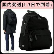 PRADA Unisex Plain Backpacks