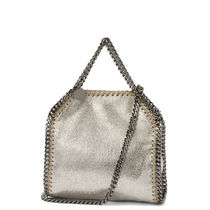 Stella McCartney FALABELLA Faux Fur Plain Totes
