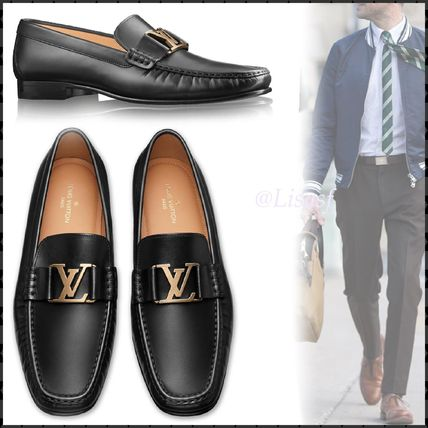 Louis Vuitton Loafers & Slip-ons Plain Toe Loafers Blended Fabrics Plain Leather