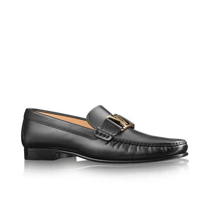 Louis Vuitton Loafers & Slip-ons Plain Toe Loafers Blended Fabrics Plain Leather 2